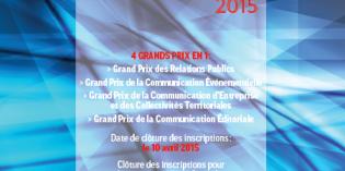 Clôture des inscriptions au Grand Prix des stratégies de communication 2015 le 10 avril